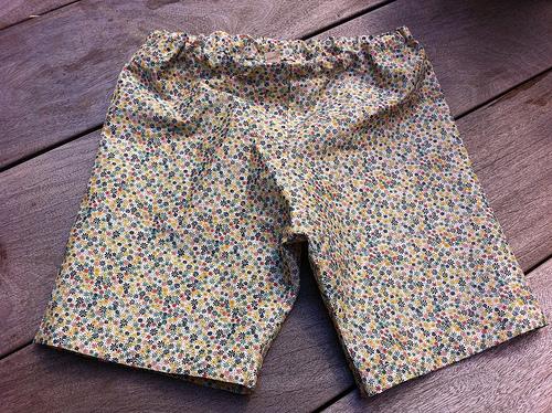 I sewed shorts for Minna!
