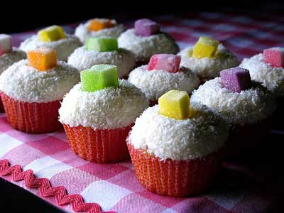 Coconut Jewel Cupcakes by chotda